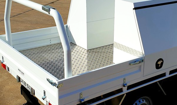 Take a look at Top Coated Ute Tray & Tool Boxes with a Premium ✨#Shinglebackcoatingsystem. Colour - Ford Ranger White.