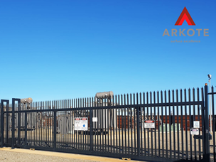 Custom gates and fence panels top coated in quality surface coating system #Tuffkote by #Arkote.