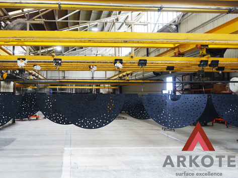 Tree Guards coated with #Grippakote Anti - Slip coating system