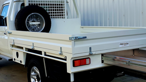 How tough does this look ❗️🤛🤜 Ute Tray Top coated with most popular Shingleback coating colour - TOYOTA WHITE 058.