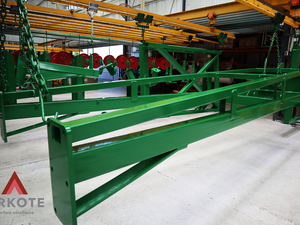 Agriculture Machinery top coated with Tuffkote by Arkote coating system.