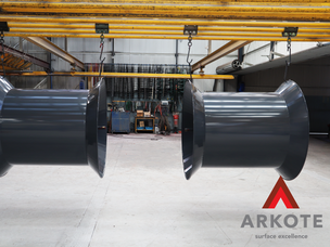 Cotton Reel Machines top coated in quality surface coating system #Tuffkote by #Arkote.