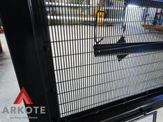 Very large gates top coated with #Tuffkote by Arkote coating system.