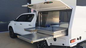 Top coated Service Body Canopy with a super tough #Shinglebackcoatingsystem 🤜🤛. Colour - Isuzu White.