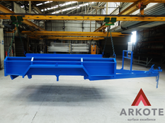 Heavy Duty Trailer Top Coated with #Kolorkote by #Arkote coating system. ✅Great appearance ✅ reasonable level of resistance to light abuse & damage.
