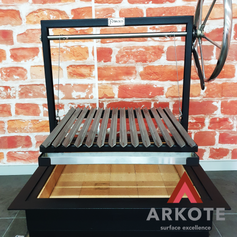 Sharing with you Arkote's #REFRACTAKOTE heat resistant powder coating jobs.