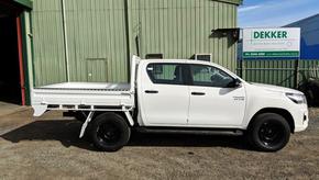 Top Coated Toyota Hilux Ute Tray with a Premium #Shinglebackcoatingsystem. Colour - Toyota White 040.