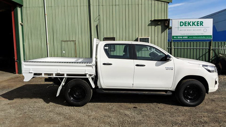 Top Coated Toyota Hilux Ute Tray with a Premium #Shinglebackcoatingsystem. Colour - Toyota White 040.