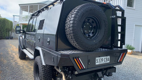 Top coated 79 Toyota Land Cruiser steel boxes. Colour - Toyota Graphite 1G3.