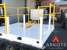 Platform top coated with #Endurakote by #Arkote coating system.