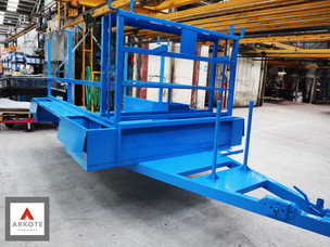 Heavy Duty Trailer top coated with #Kolorkote by Arkote coating system.