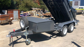 Top Coated Heavy Duty Tipper Trailer. Colour - Midnight Black.