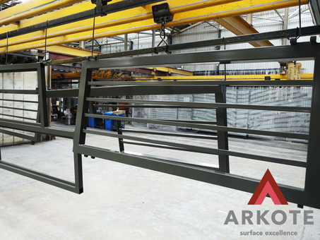 Large Security Gates top coated with #Kolorkote by #Arkote coating system.