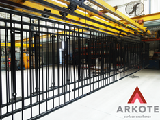 Balustrades and Stanchions powdered by #Arkote 🤛🤜 using #Tuffkote coating system.