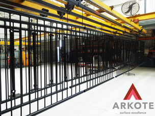 Balustrades and Stanchions powdered by #Arkote using #Tuffkote coating system.