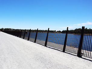 Fence panels and posts top coated in quality coating system #Tuffkote by Arkote.