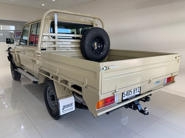 Top Coated 79 Toyota Land Cruiser ute tray. Colour - Sandy Taupe.