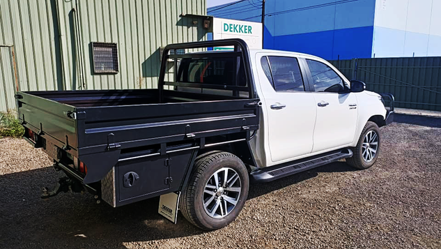 Top Coated Toyota Hilux Ute Tray with a Premium #Shinglebackcoatingsystem If you like it tough. Colour - Toyota Graphite.