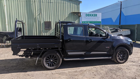 Tough looking Colorado Dual Cab Top coated with Premium #Shinglebackcoatingsystem 🔥 🤜🤛. Coating Colour - Midnight Black.