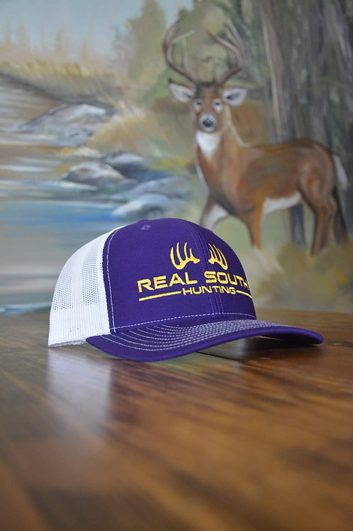 Purple/White Snapback with Yellow Logo