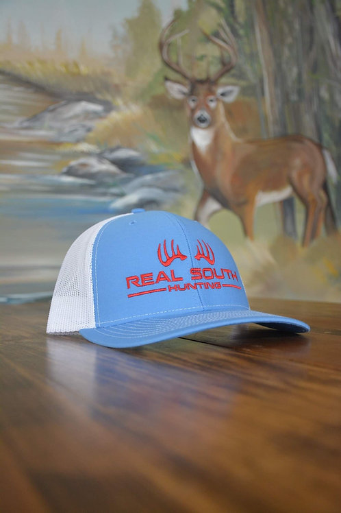 Columbia Blue/White Snapback with Red Logo