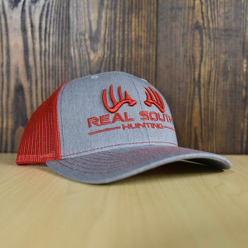 3D Grey Heather/Red Snapback