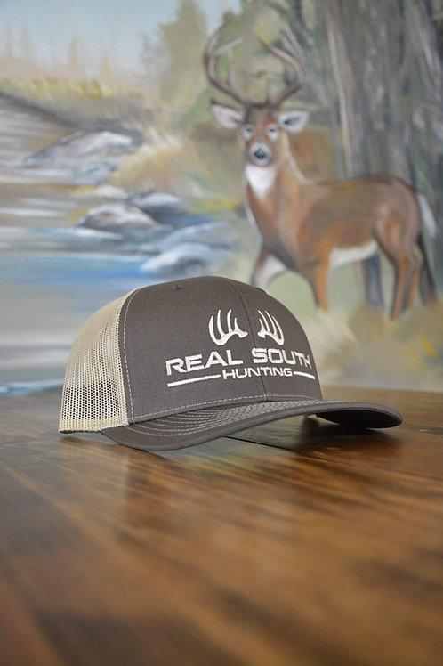 Brown/Khaki Snapback with Khaki Logo