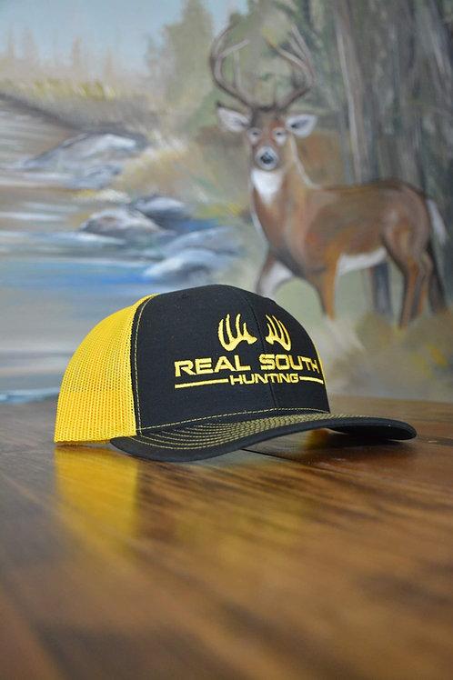 Black/Yellow Snapback with Yellow Logo