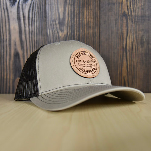 Khaki/Coffee Snapback with Leather Patch