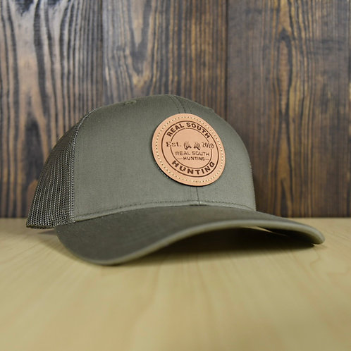 Solid Loden Snapback with Leather Patch