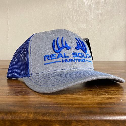 3D Grey Heather/Royal Blue Snapback