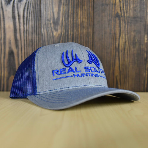 3D Grey Heather/Royal Blue Snapback