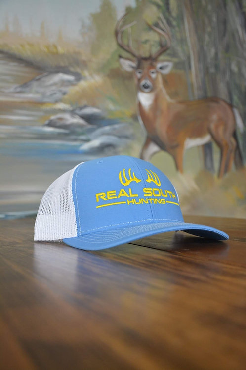 Columbia Blue/White Snapback with Yellow Logo