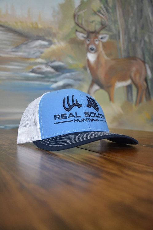 3D Columbia Blue/White/Navy Snapback with Navy Logo