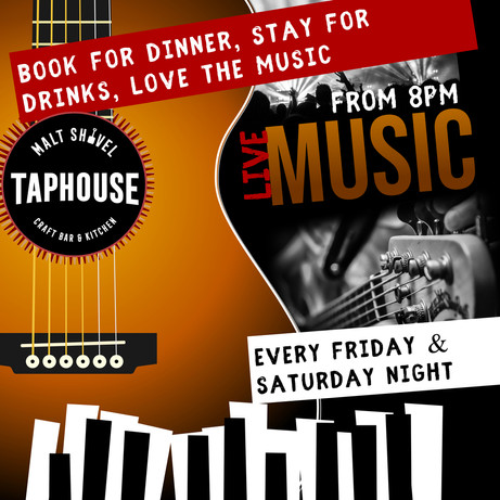 Live tunes Every Friday & Saturday