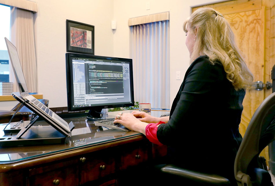 Patty coding in the Stellar office