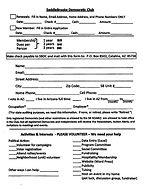 Saddlebrooke Democratic Club Application