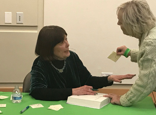Mary Pat Kelly discuss new book with standing room only crowd