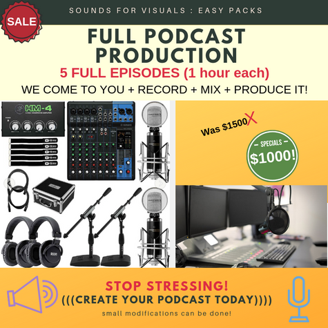 FULL PODCAST RECORDING & PRODUCTION