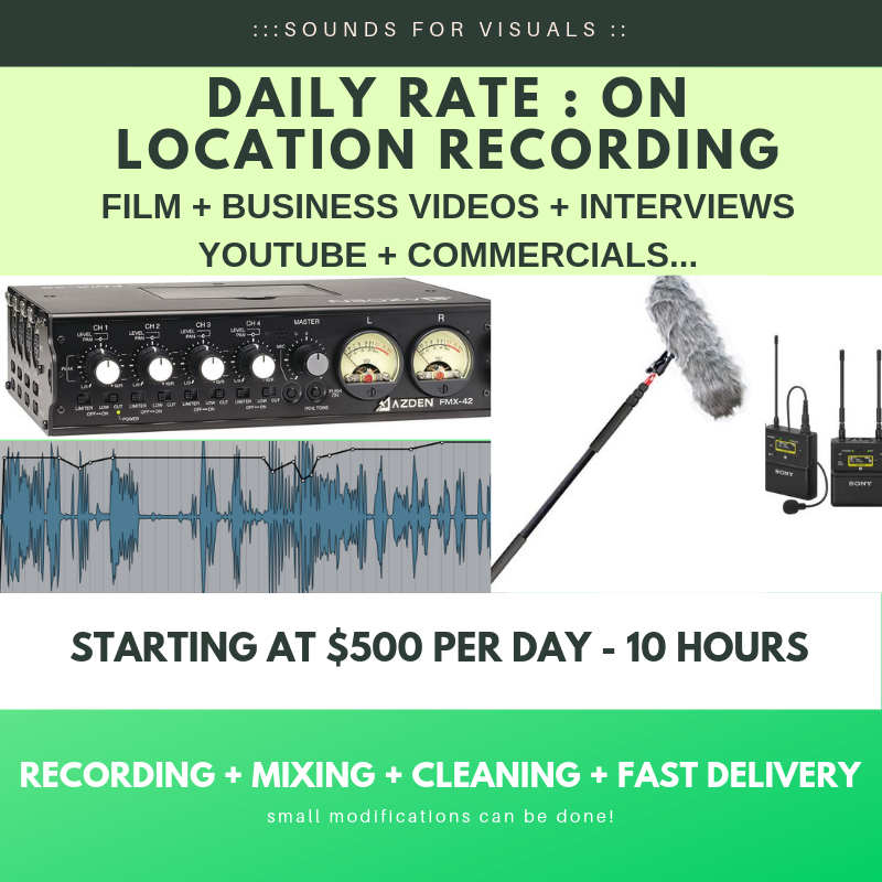 REGULAR DAILY RATE - RECORDING + BASIC MIXING