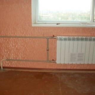 замена радиатора отоплени с частичной заменой труб