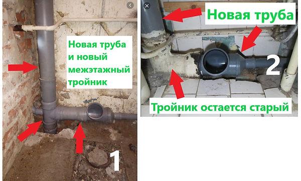 Замена стояка канализации в Полтаве