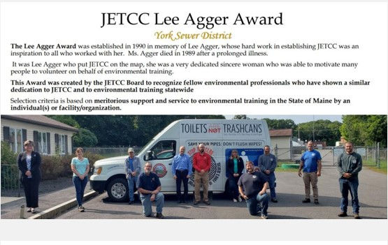 2020 JETCC Lee Agger Award