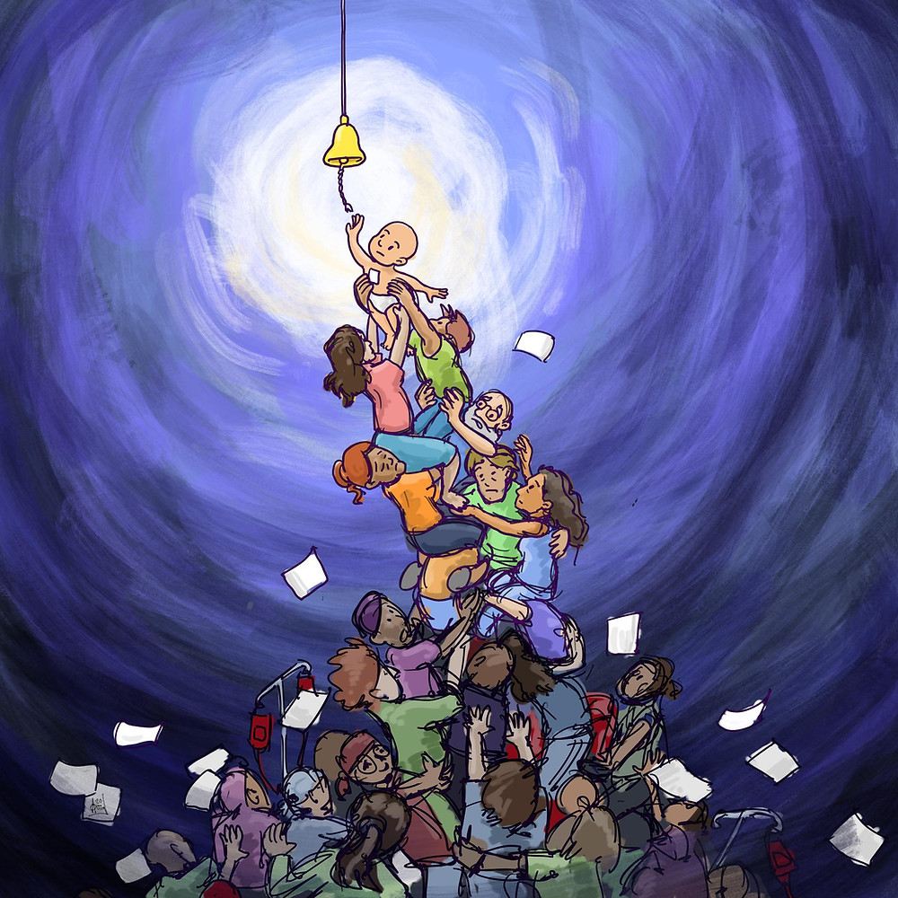"""I draw childhood cancer. released this image not long after we found out about our child's diagnosis. Visit this website to see his full collection inspired by his daughter's personal cancer """"journey"""".  www.idrawchildhoodcancer.com"""