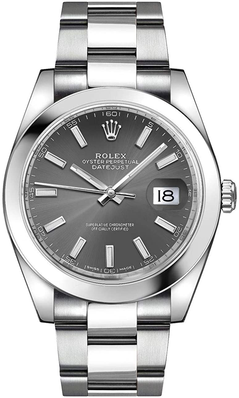 Men's Rolex Datejust 41 Dark Rhodium Dia