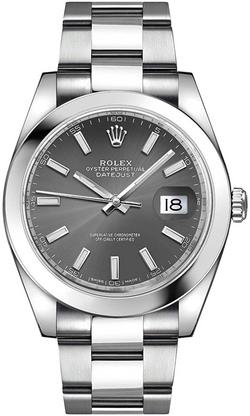 Men's Rolex Datejust 41 Dark Rhodium Dia