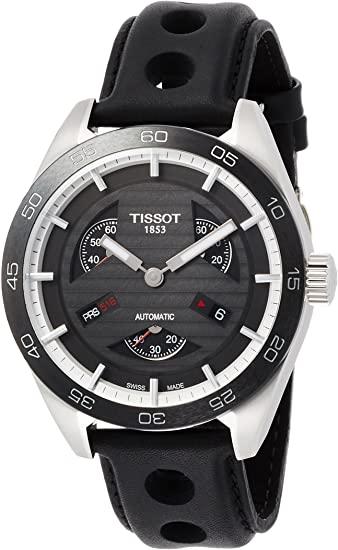 TISSOT HOMME 42MM BRACELET CUIR NOIR AUTOMATIQUE MONTRE T100.428.16.051.00