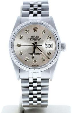 Rolex Mens Datejust 16030 Cu