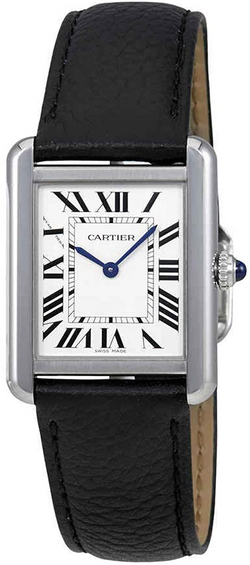 Cartier Tank Solo Silvered Light Opaline Dial