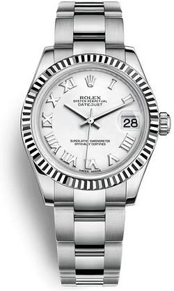 Rolex Datejust White Roman D